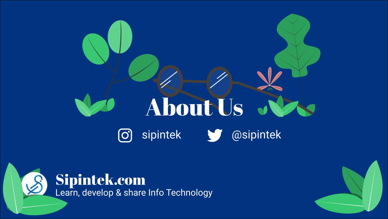 tentang kami sipintek.com