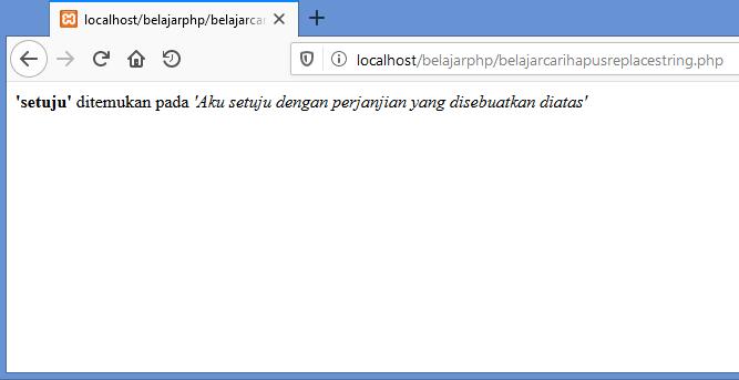 Gambar hasil mencari kata dengan fungsi preg_match di php