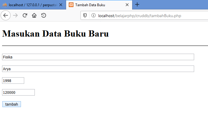 Gambar tambah data _ halaman berisi form untuk menambahkan data