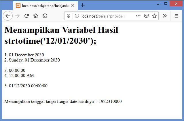 Gambar Hasil menampilkan data tanggal hasil konversi string ke datetime