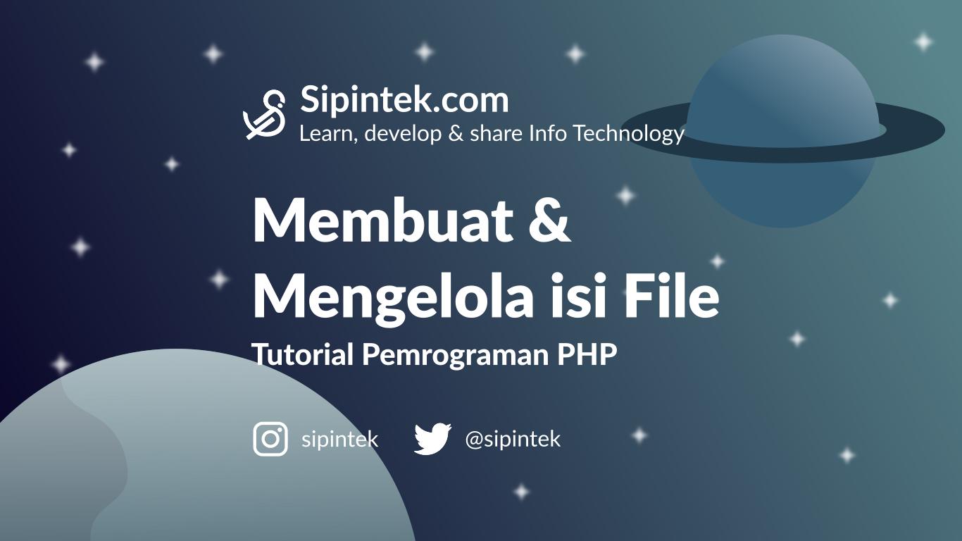 Gambar Cara Membuat Membaca Mengubah Isi File di PHP