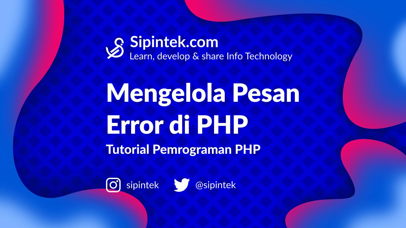 Gambar Cara Mengelola Error di PHP dengan Try Catch