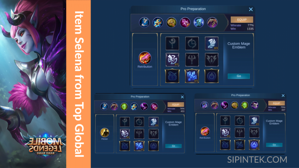 item terkuat selena oleh top global mobile legend