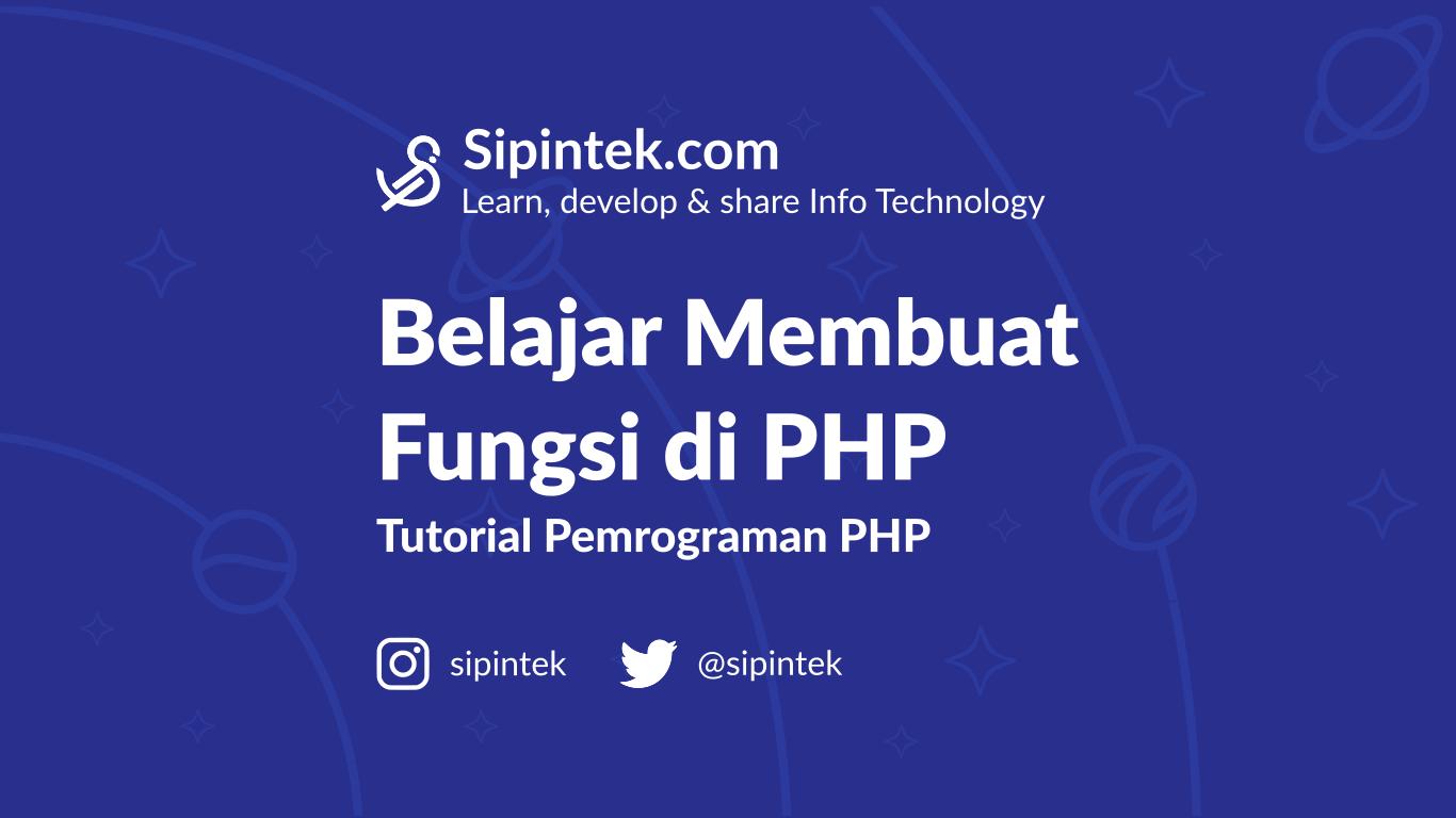 Gambar belajar membuat fungsi di PHP