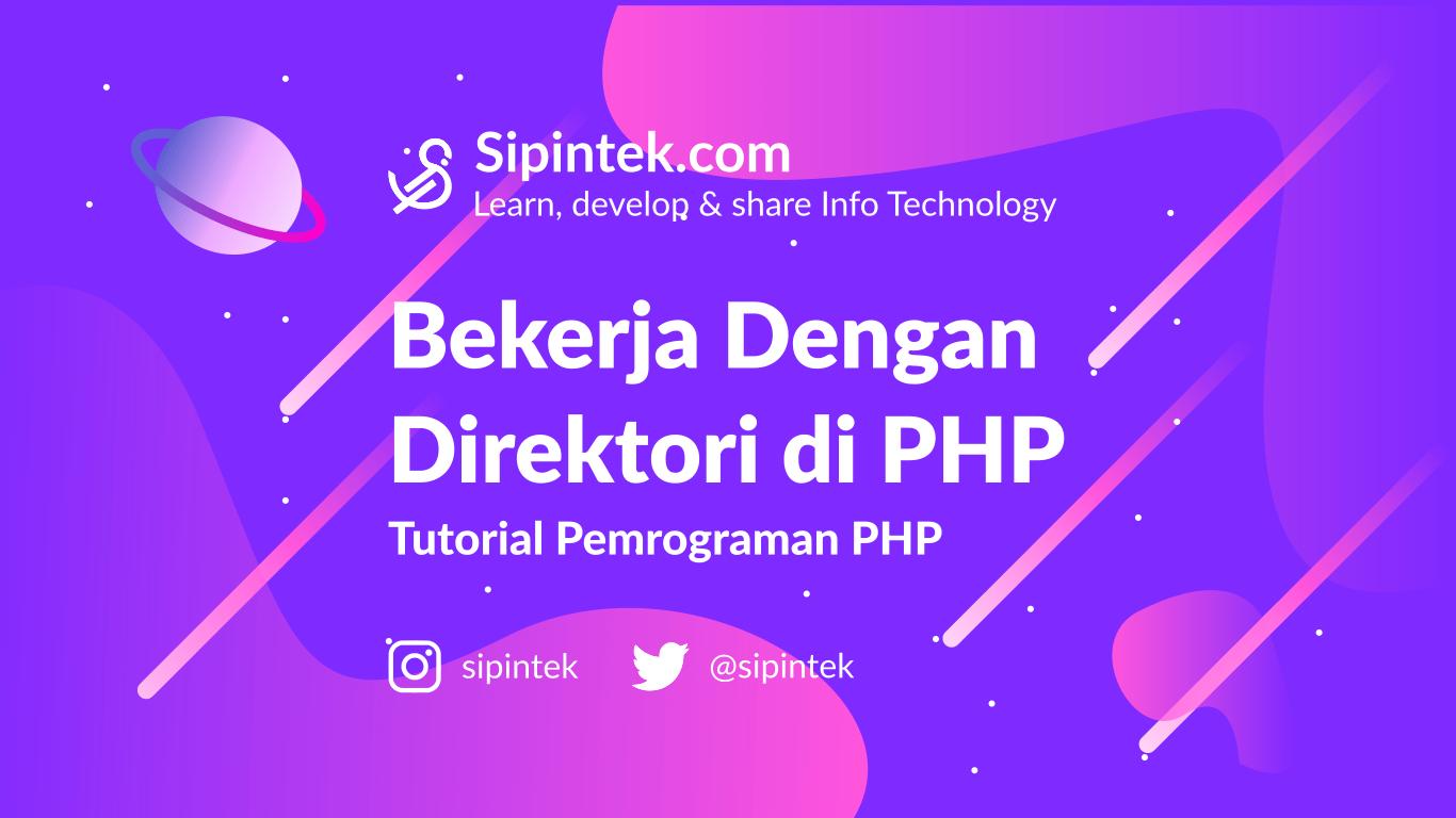 Gambar Cara mengelola direktori dengan PHP