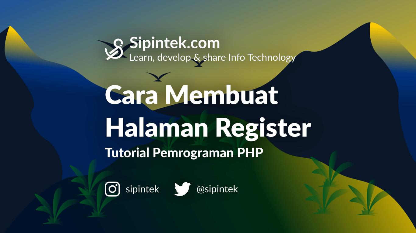 Gambar Membuat halaman Register di PHP
