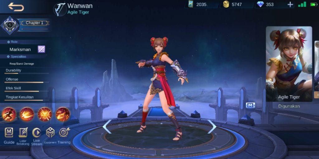 Gambar Hero Wanwan Magic Cess Mobile Legends