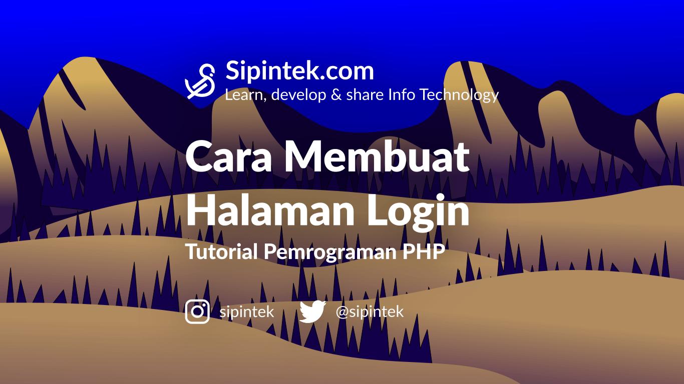 Gambar membuat halaman login di php