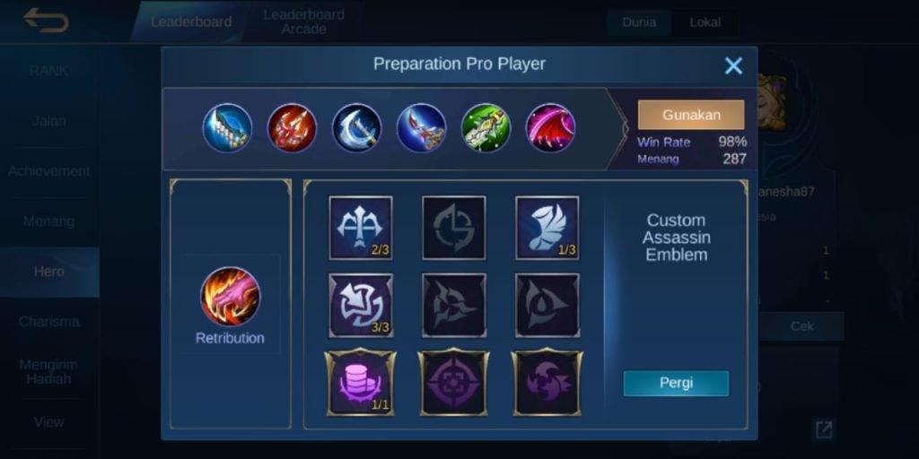 Gambar Build Terkuat dan Tersakit Hero Ling Mobile Legends s16 2020