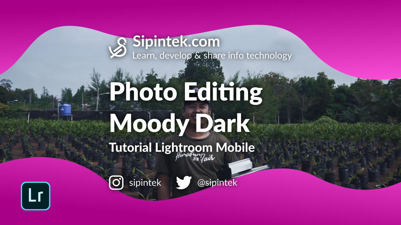 Gambar Cara Edit foto Efek Moody Dark Dengan Lightroom Mobile