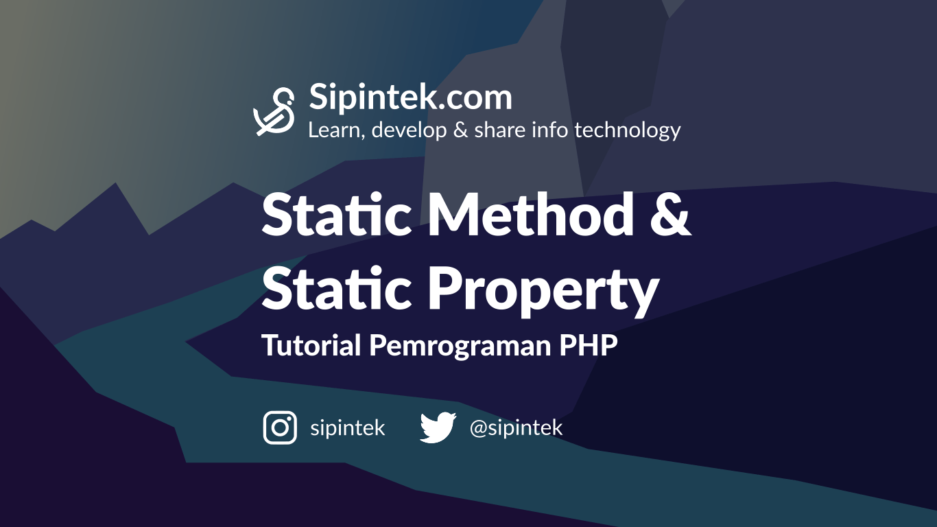 Gambar Membuat Static Property dan Static Method di OOP PHP