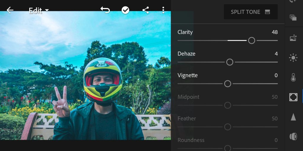 Gambar editing efek foto Brandon Woelfel di lightroom  mobile