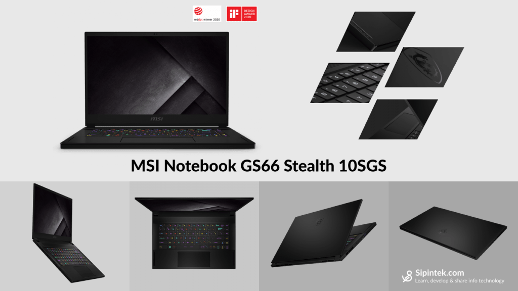 Gambar Tampilan Laptop MSI Notebook GS66 Stealth 10SGS