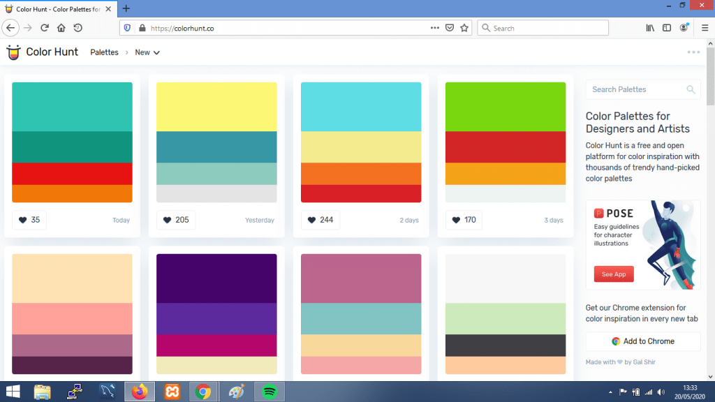 Gambar Web Palette Generator terbaik Colorhunt.co