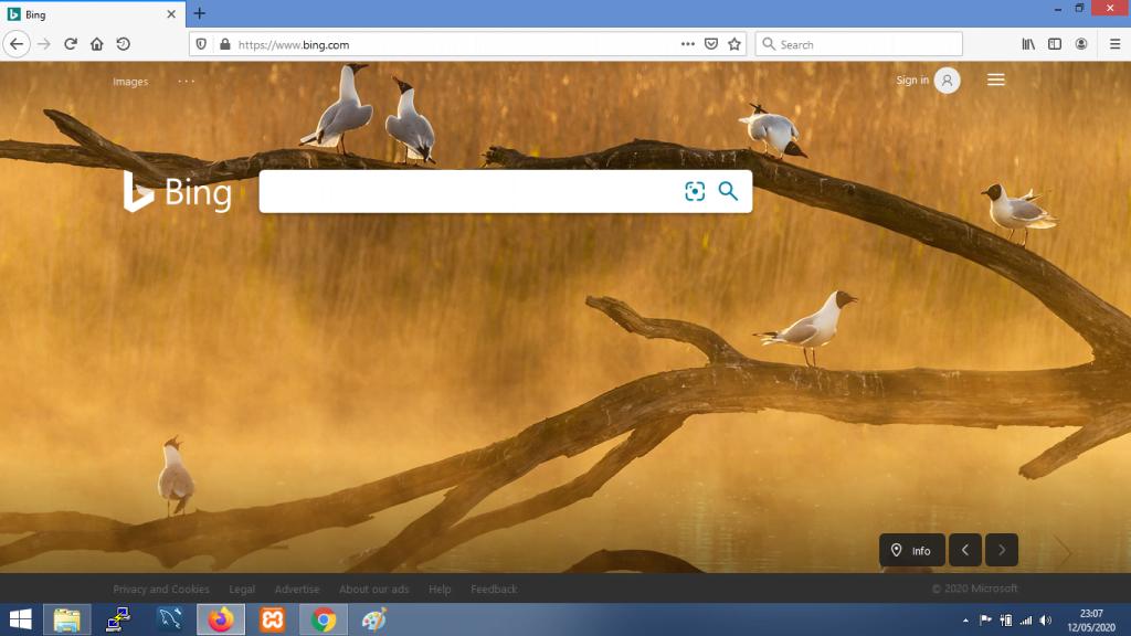 gambar Tampilan mesin pencarian Bing