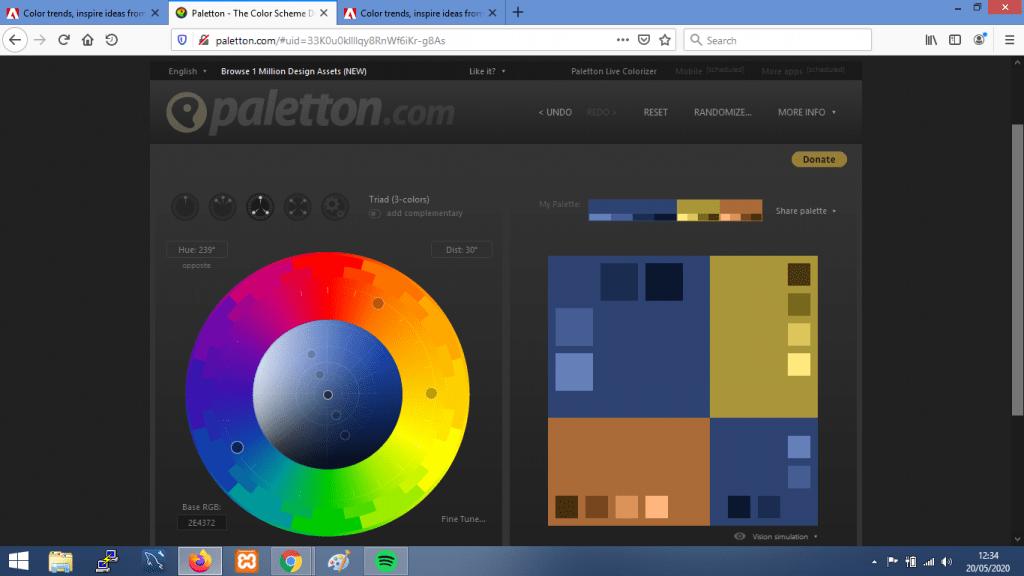 Gambar Web Palette Generator terbaik paletton.com