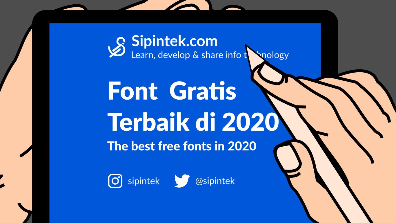 Gambar Daftar Font Gratis Terbaik & Terpopuler Untuk Web di 2020