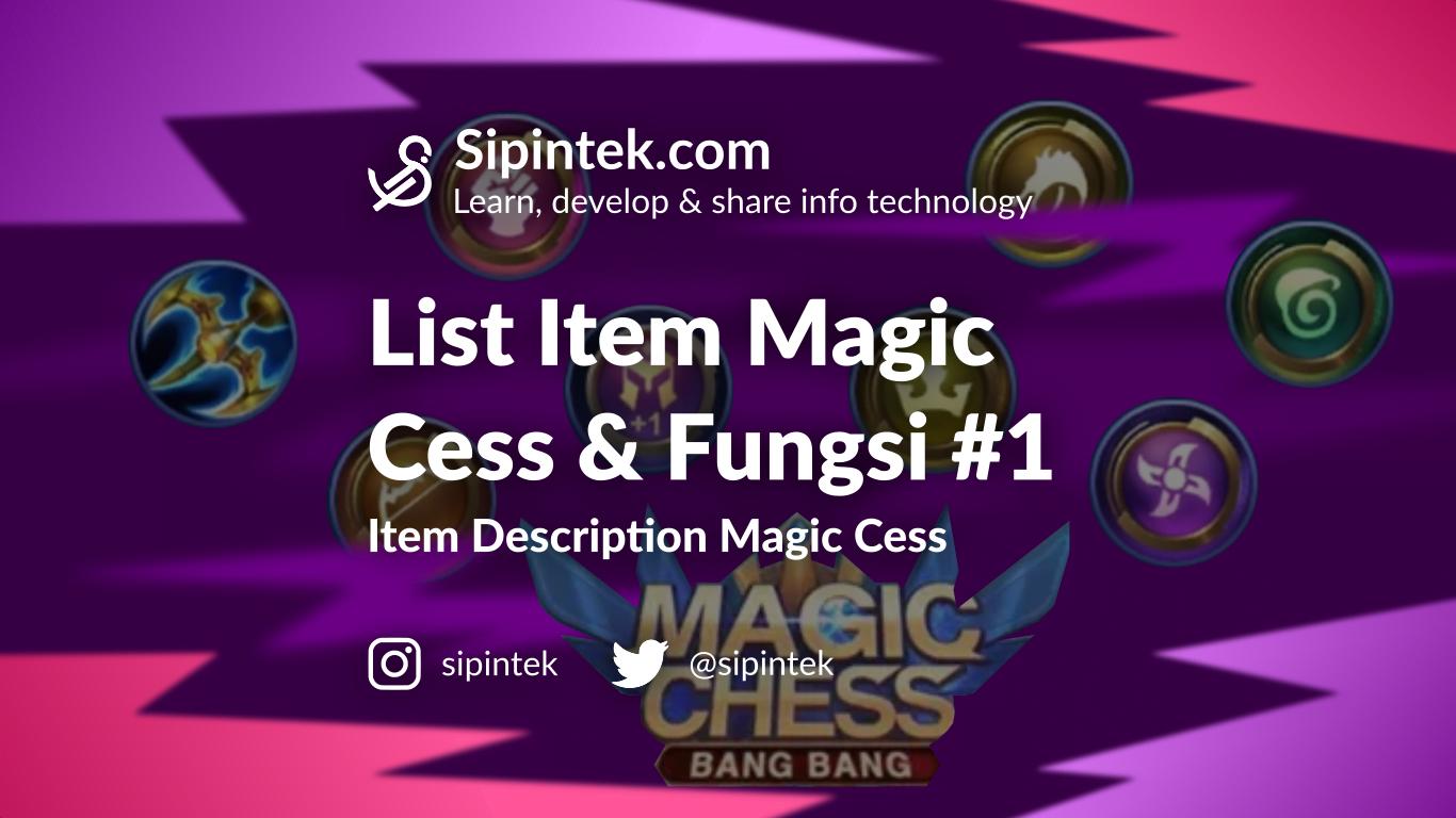 Gambar Daftar Item Magic Chess dan Kegunaannya di Season 2 #1