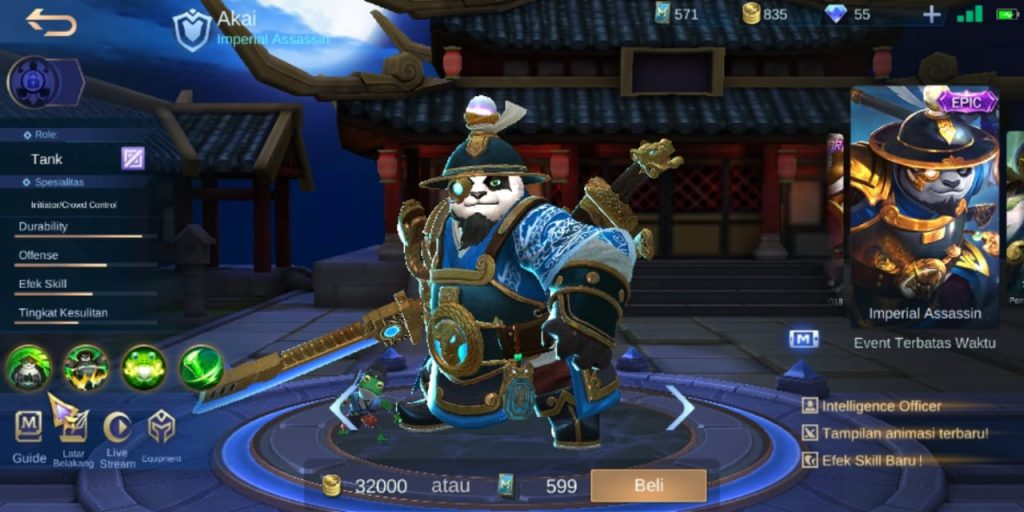 Gambar Tampilan Hero Akai Tank Terkuat Season 16 2020 Mobile Legends