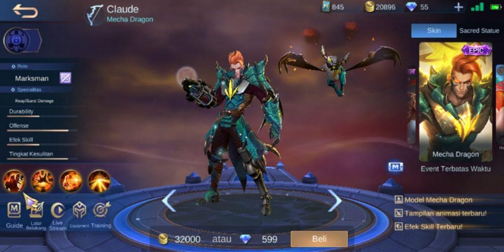 Gambar Tampilan Hero Claude MM Terkuat di S16 Mobile Legends 2020