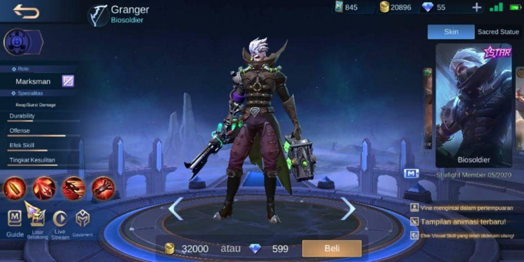 Gambar Tampilan Hero Granger MM Terkuat di S16 Mobile Legends 2020