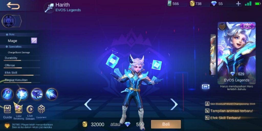 Gambar Tampilan Hero Harith Mage Terkuat Season 16 2020 Mobile Legends
