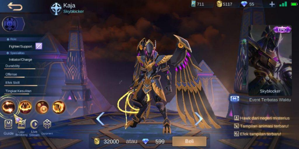 Gambar Tampilan Hero Kaja Support Terkuat Season 16 2020 Mobile Legends