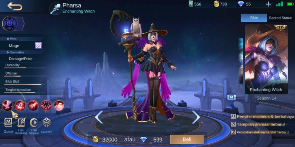 Gambar Tampilan Hero Pharsa Mage Terkuat Season 16 2020 Mobile Legends
