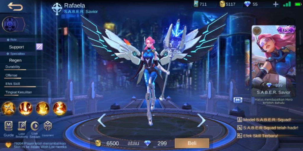 Gambar Tampilan Hero Rafaela Support Terkuat Season 16 2020 Mobile Legends