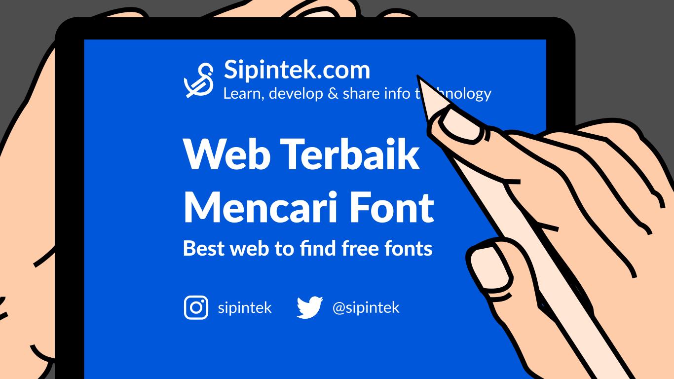 Gambar Website Untuk Mencari dan Download Font Gratis Terbaik
