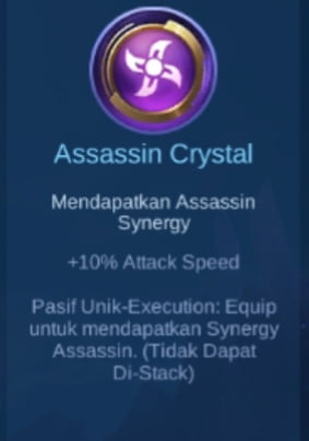 Gambar Item Assassin Crystal di Majic Cess s2