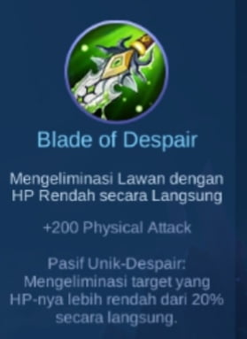 Gambar item Blade of Despair Magic Cess