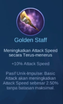 Gambar item Golden Staff Magic Cess