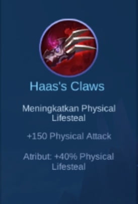 Gambar item Haas's Claws Magic Cess