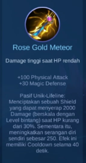 Gambar item Rose Gold Meteor Magic Cess