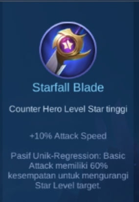 Gambar item Starfall Blade Magic Cess
