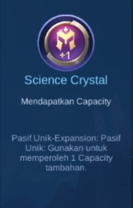 Gambar Item Science Crystal di Majic Cess s2