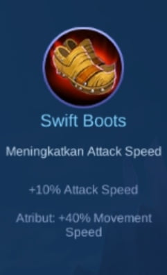 Gambar item Swift Boots Magic Cess