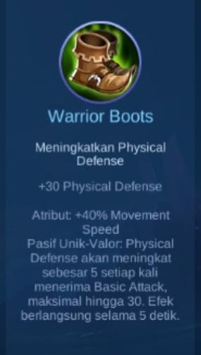 Gambar Item Warrior Boots Magic Cess
