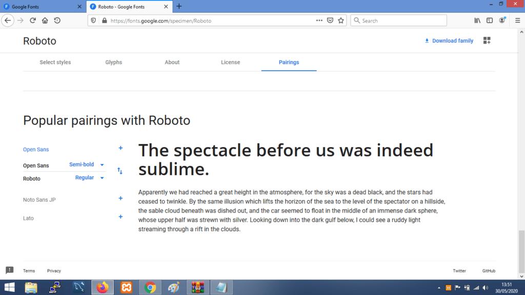 Gambar Contoh Kombinasi Font Roboto Terbaik