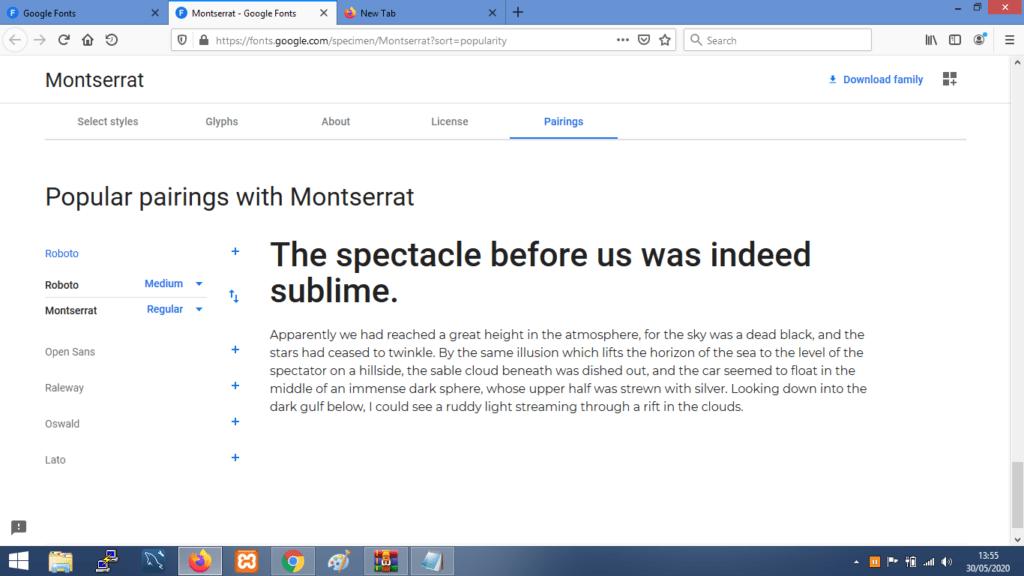 Gambar Contoh Kombinasi Font Montserrat Terbaik