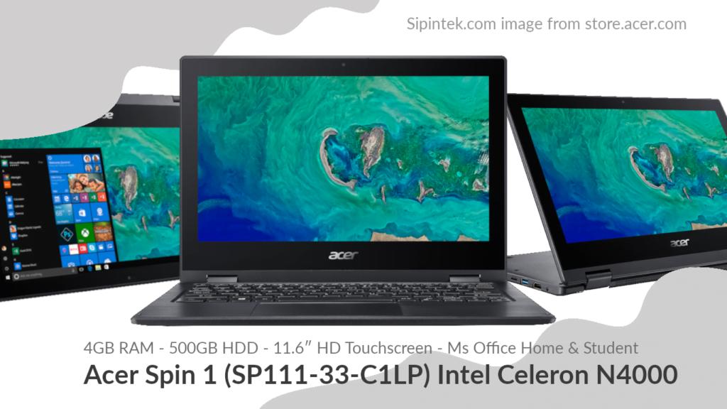 Gambar Acer Spin 1 (SP111-33-C1LP) Intel Celeron N4000 4,7 Jutaan