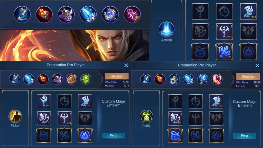 Gambar 5. Build item, spell dan emblem tersakit dan terbaik untuk valir