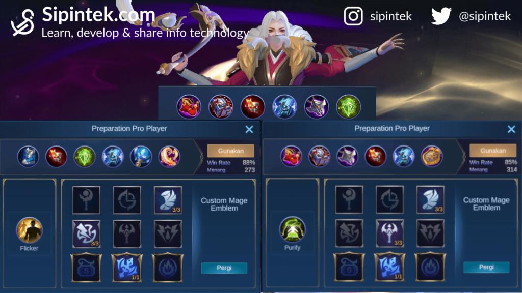 Gambar build item spell dan emblem tersakit terbaik dan terkuat Luo Yi