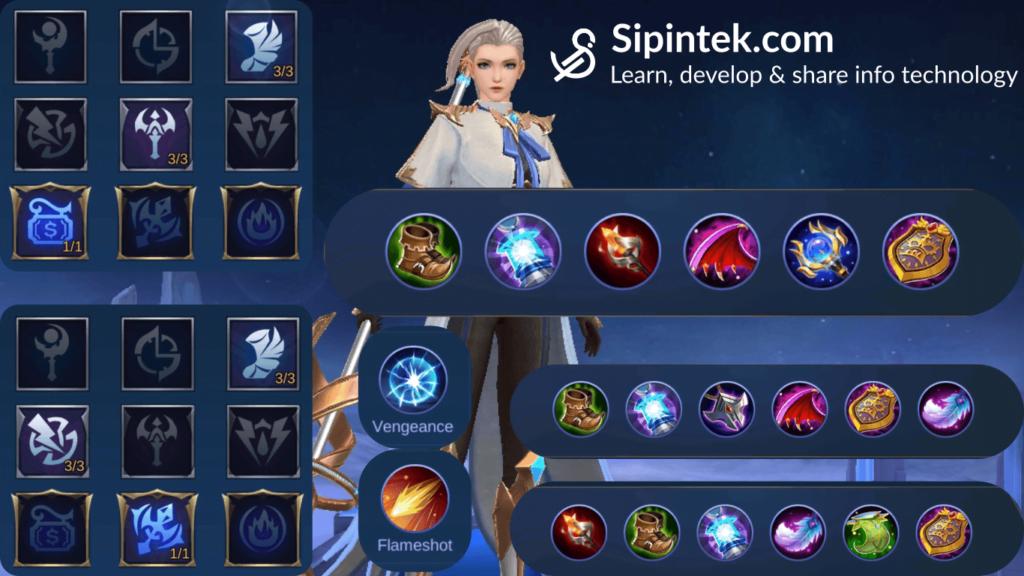 Gambar build, item, spell dan emblem tersakit terkuat dan terbaik Silvanna