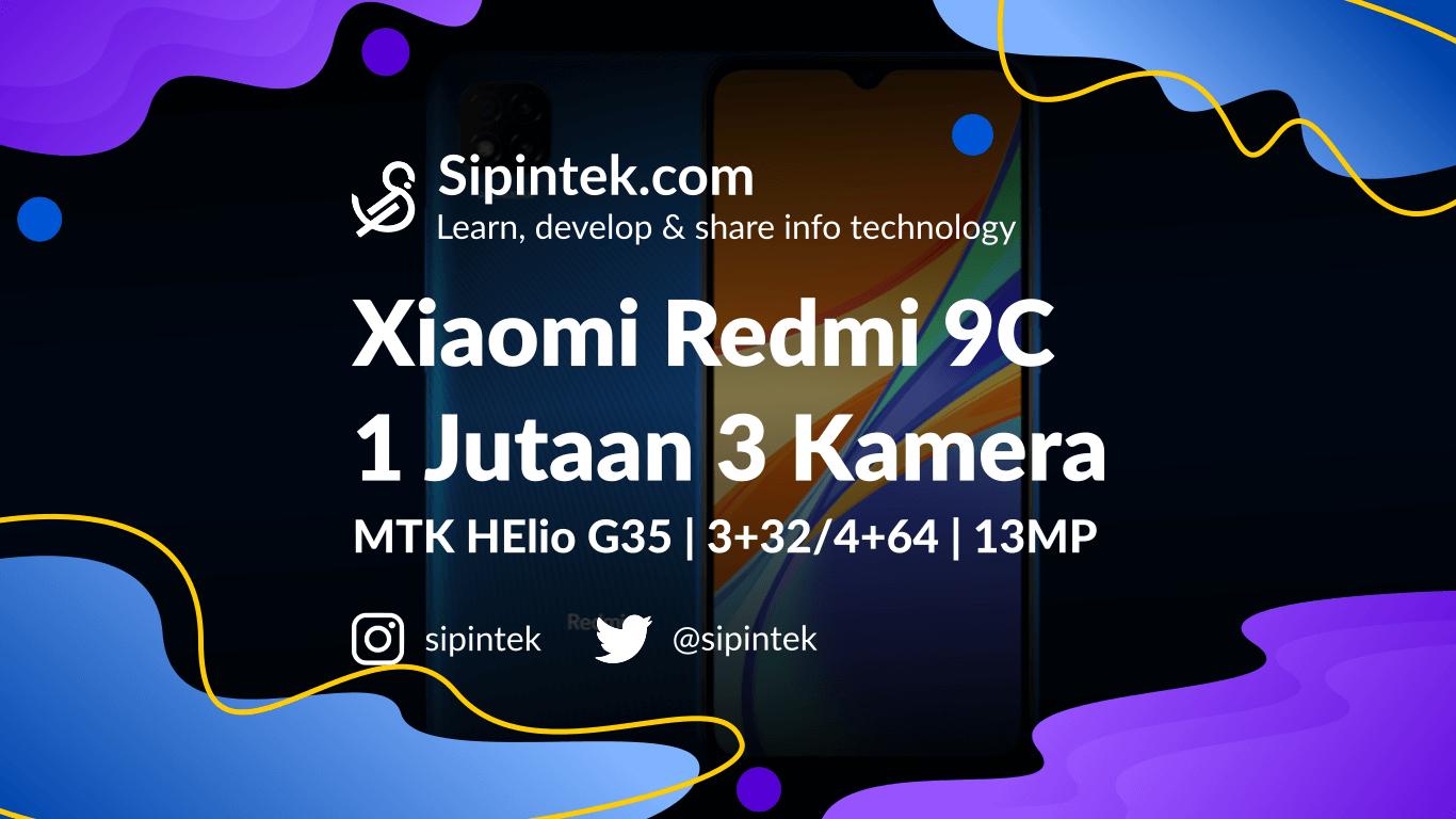 Gambar Xiaomi Redmi 9C Harga 1 Jutaan, Spesifikasi Mirip 9A