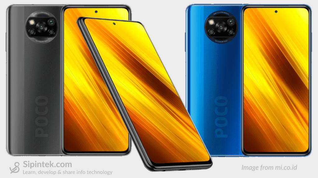 Gambar Desain HP Xiaomi POCO X3 NFC