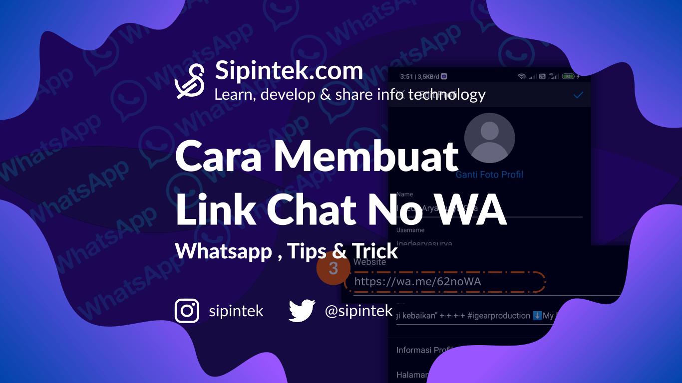 Gambar Membuat Link Chat Whatsapp (WA), Dengan Pesan Default