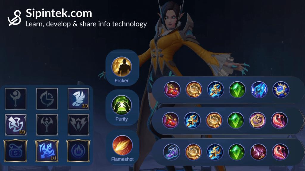 Gambar Build item spell emblem terbaik dan tersakit untuk hero Eudora ML