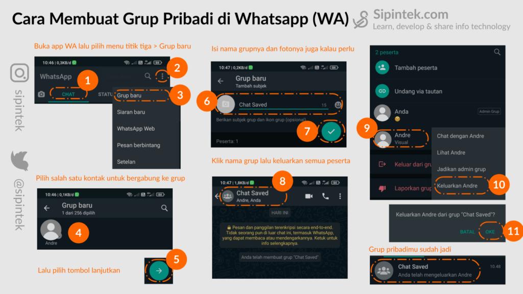 Gambar Cara Membuat Grup Whatsapp (WA) Pribadi Untuk Chat dengan Diri Sendiri